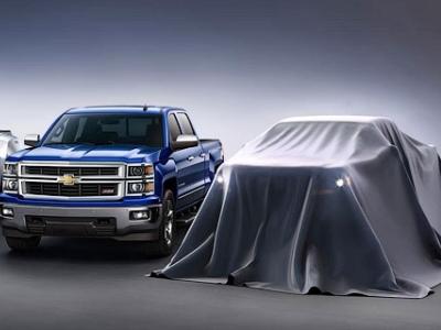 Тизер обновленного Chevrolet Colorado (справа)