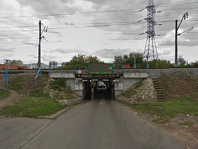 Железнодорожный переезд в Москве возле станции Матвеевская