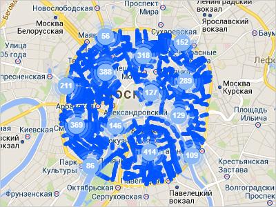 Текущая зона платной парковки в Москве