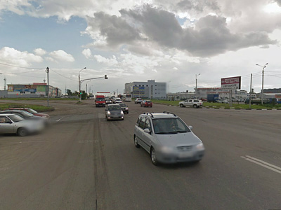 Пересечение Варшавского шоссе с улицей Обводная дорога
