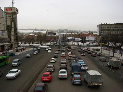 Заторы в Красноярске