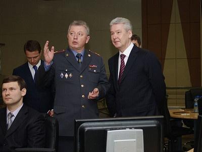 Начальник ГИБДД Москвы Александр Ильин с мэром столицы Сергеем Собяниным