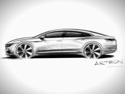 VW продемонстрировал скетчи обновленной модели Arteon— Приемник PassatCC