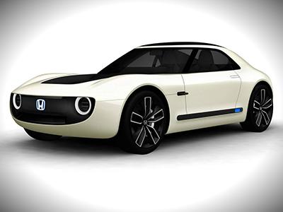 Хонда презентовала вТокио электрический спорткар SportsEV