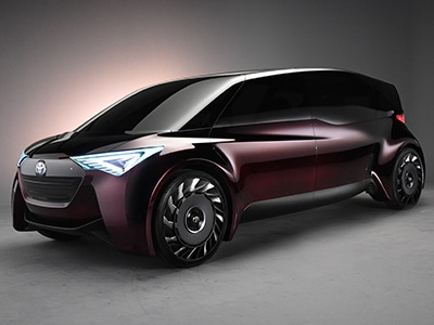 Тойота представила водородный концептуальный автомобиль сбезвоздушными шинами