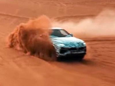 Тизерное видео Lamborghini Urus раскрыло наличие укроссовере режима езды попустыне