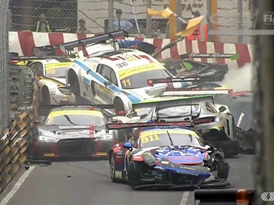 16 авто всмятку: гонка спорткаров вМакао завершилась массовой трагедией