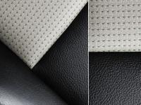 Спортивные глубокие сиденья обитые кожей/тканью
