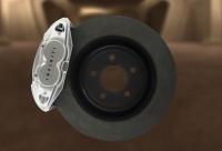 Тормозная система с оппозитными скобами тормозных дисков