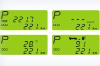 Информационная панель с электронным одометром и счетчиком расстояния