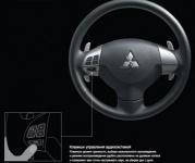 Клавиши управления аудиосистемой на рулевом колесе