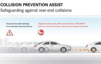 Система предупреждения столкновений COLLISION PREVENTION ASSIST с адаптивной системой экстренного торможения