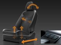 Водительское сиденье с электроприводом, встроенной памятью и функциями управления