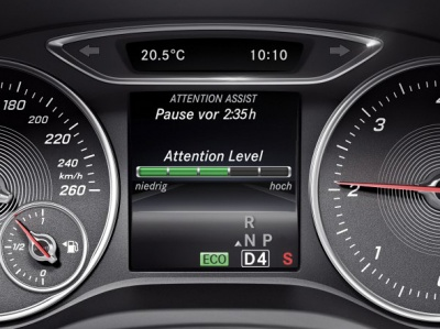 Система контроля усталости водителя Attention Assist