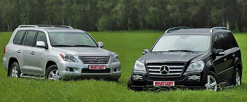 Lexus LX 570 и Mercedes-Benz GL 500. Фото с сайта whatcar.ru.