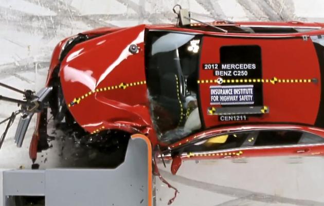 Краш-тест Mercedes-Benz С-class